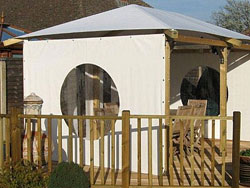 Gazebo Side Panels - Circular Window